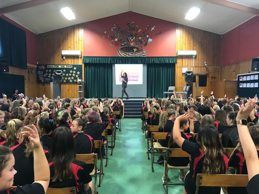 Waimea School Hands Up Who Has Been teased for appearance.JPG